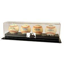 MLB Logo Four Baseball Display