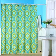 Polyester Shower Curtain with Buttonhole