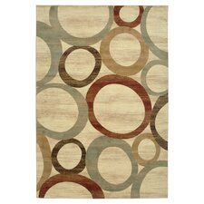 Cream Sphere Vision Area Rug