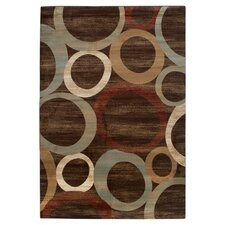 Brown / Beige Sphere Vision Area Rug