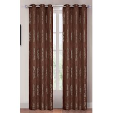 <strong>Lavish Home</strong> Coffee and Olive Grommet Curtain Panel (Set of 2)