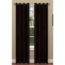 <strong>Lavish Home</strong> Black Wavy Window Grommet Curtain Panel (Set of 2)