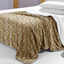 <strong>Lavish Home</strong> Tiger Polyester Fleece Blanket