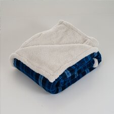 Checkered Polyester Fleece Throw Blanket