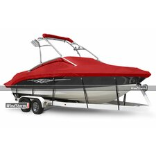 WindStorm V-Hull Runabout Outboard Boat Cover with Ski Tower