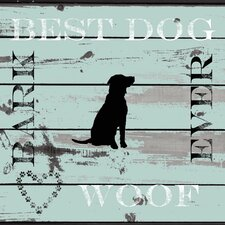 "<strong>LSC</strong> Home Pet Canvas ""Best Dog Ever"" Wall Art"