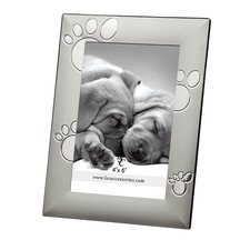 Home Chrome Pawprints Picture Frame