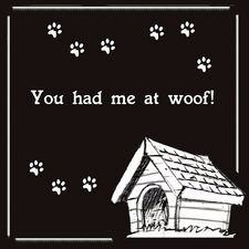 "<strong>LSC</strong> Home Pet Canvas ""You Had Me at Woof"" Wall Art"