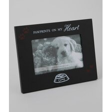 Home Pawprints On My Heart Picture Frame