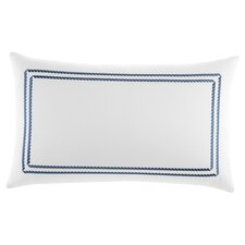Maritime Frame Embroidered Cotton Decorative Pillow 12x20