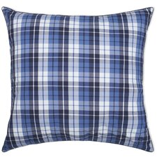 <strong>Southern Tide</strong> Nautical Plaid Yarn Dyed European Square Pillow