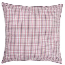 Strawberry Masterplaid Yarn Dyed European Square Pillow