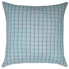 Peninsula Check Yarn Dyed European Square Pillow