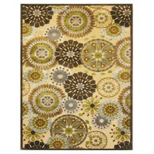 Soleil Yellow/Brown Rug