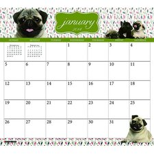 <strong>Willow Creek Press</strong> Pugs 2014 Magnetic Calendar