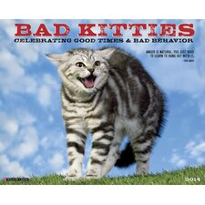 <strong>Willow Creek Press</strong> Bad Kitties 2014 Wall Calendar