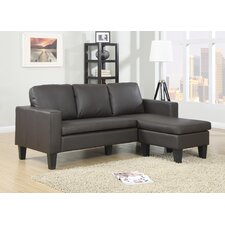 Faux Leather 3 Seater Corner Sofa