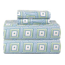 <strong>Celeste Home</strong> Celeste Home Ultra Soft Flannel Matrix Cotton Sheet Set