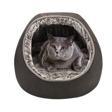 Hooded Snuggler Reversible Pet Bed with Cushion