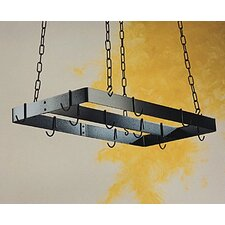 Gourmet Ceiling Mount Pot Rack with Centerbar