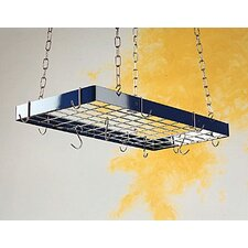 <strong>Rogar</strong> Custom Rectangle Ceiling Mount Pot Rack with Grid