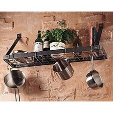 <strong>Rogar</strong> Gourmet Bookshelf Wall Mounted Pot Rack