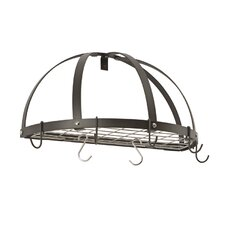 <strong>Rogar</strong> Gourmet Half Dome Wall Mounted Pot Rack with Grid