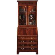 Sterling Mahogany Drawer Secretary with Lapotop Pigeon Holes and Hutch
