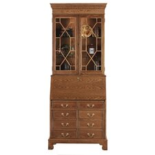 Traditions Oak Computer Secretary with Hutch