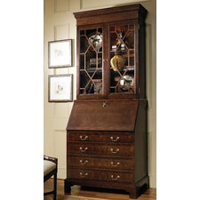 Jamestown Secretary Desk with Drawers and Hutch