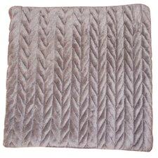 Lungarno Braided Micro-Mink Fabric Throw