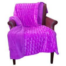 Dreamfountain Exquis Faux Fur Polyester Throw