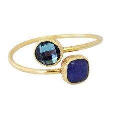 Double Stone Bangle Bracelet