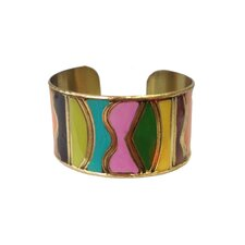 Color Block Enamel Cuff Bracelet