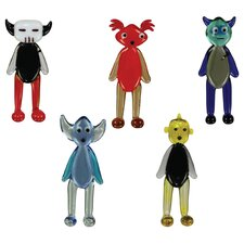 5 Piece Wa2C AkbaR, BasilliO, CaliB, DechA and EwaN Figurine