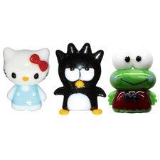 3 Piece Hello Kitty 2, BadtzMaru and Keroppi Figurine Set