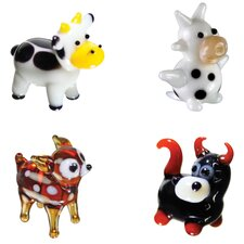 Miniature Cow, DairyCow, Deer, Bull Figurine Set