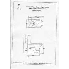 Compact Deluxe Close Coupled Toilet