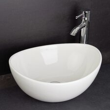 Vanity Vitreous China Bowls Shell Sit on Basin