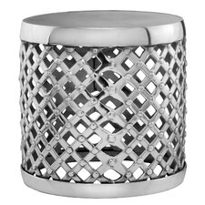 <strong>Modern Day Accents</strong> Aluminum Round Drum Stool