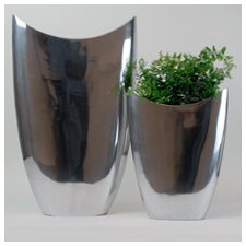 2 Piece Oval Pointed Vase Set