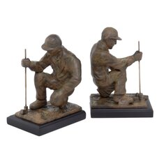 Golfer Book Ends (Set of 2)