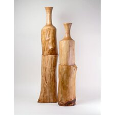 2 Piece Offset Bottle Vase Set