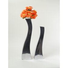Aluminum Wavy Vase (Set of 2)