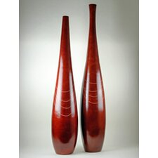 Wood Rojo Alto Floor Bottle (Set of 2)
