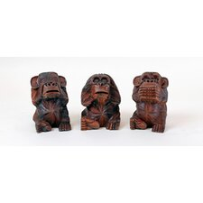 No Evil Monkeys Sculpture (Set of 3)