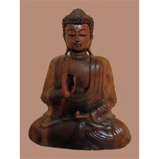 Wood Buddha Sculpture