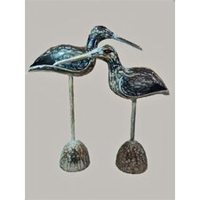 Sandpipers Sculpture (Set of 2)