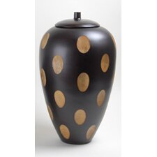 Wood 2-Tone Covered Jar