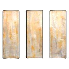 Modern Living Careless Whisperer Tryptic 3 Piece Framed Painting Print Set